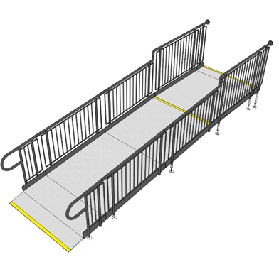 fully compliant modular ramp for schools and public buildings