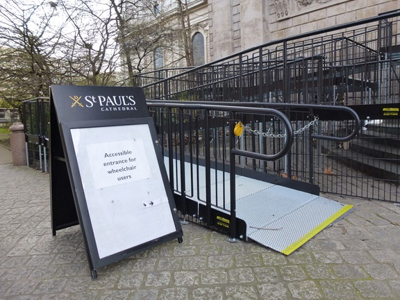 wheelchair ramp to St Paul's Cathedral